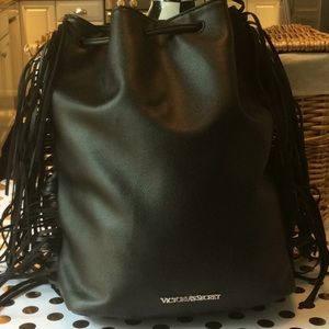 VICTORIA'S SECRET BLACK BACKPACK